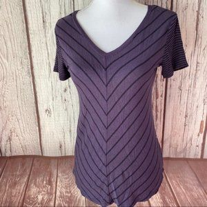 Maurices 24/7 purple and black striped top size xs